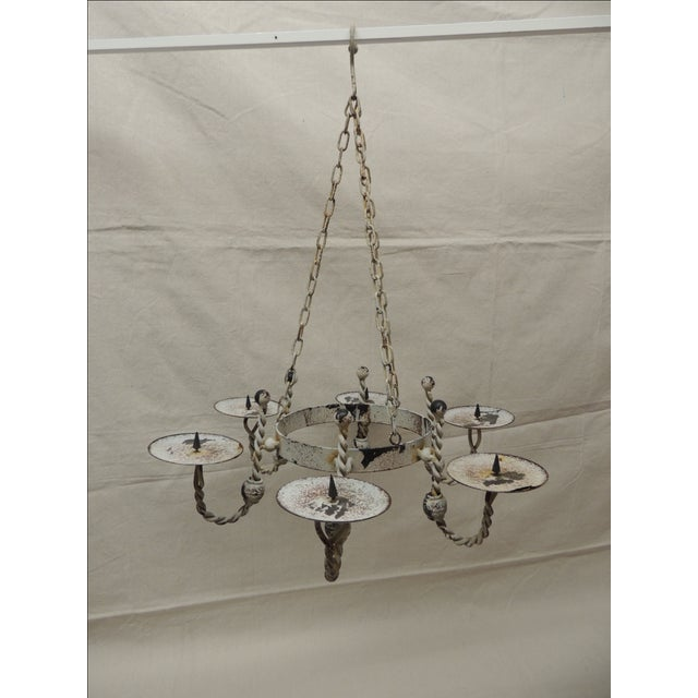 Vintage Shabby Chic Hanging Chandelier - Image 2 of 6