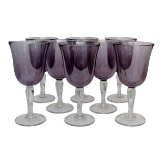 American Purple Glass Stemware- Set of 8