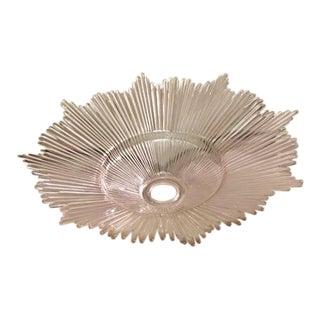 Art Deco Holophane Glass Sunburst Torchiere