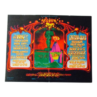 Psychedelic Fillmore East Concert Postcard Bill Graham