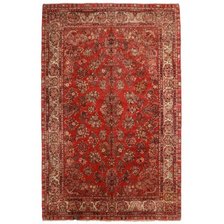 "RugsinDallas Antique Persian Sarouk Rug - 10'3"" X 16'"