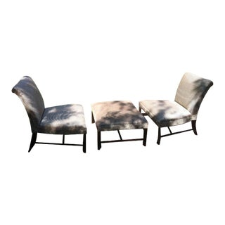 Barbara Barry for Baker Lounge Chairs & Ottoman - Set of 3