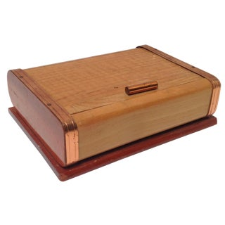 Mid-Century Modern Rolltop Cigarette Box