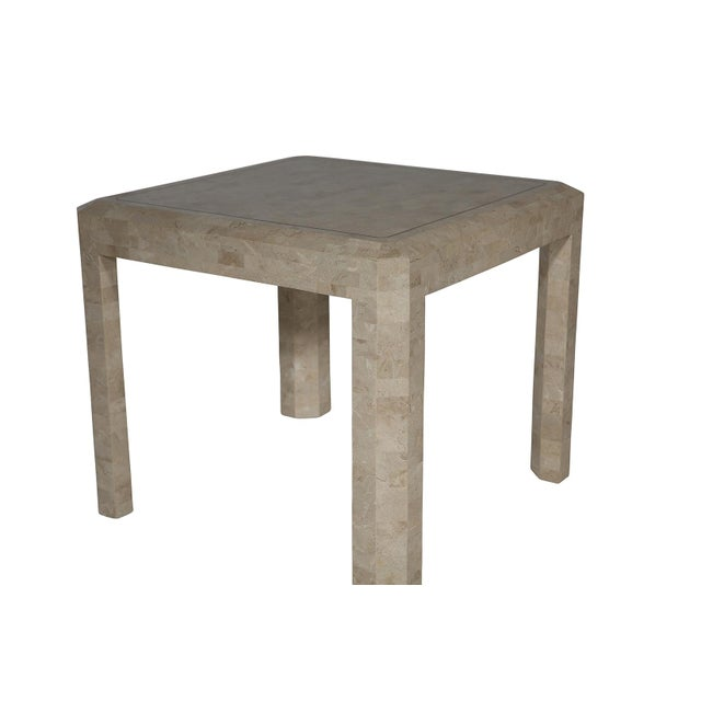 Maitland Smith Tessellated Side Table - Image 3 of 6