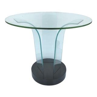 Mid-Century Modern Modernage Bent Glass Side Table