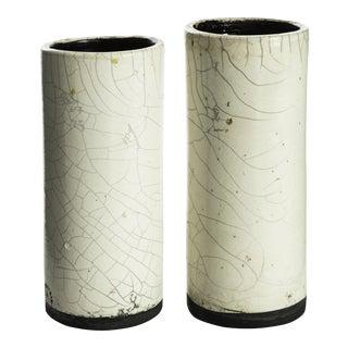Handmade Raku Vases From Haiti - a Pair