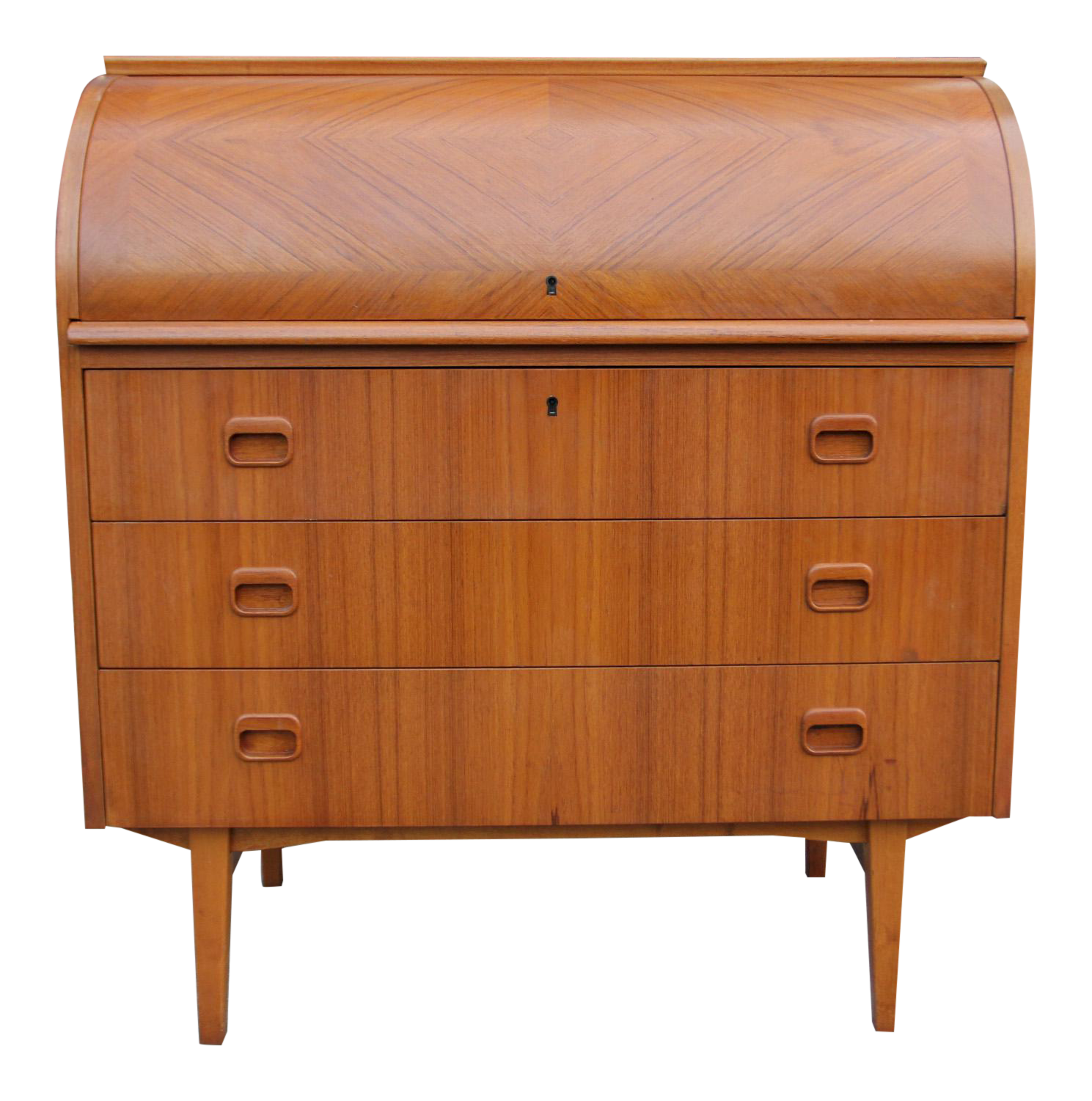 Danish Modern Teak Roll Top Desk Chairish