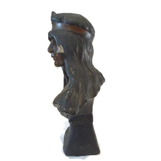 Vintage Bohemian Princess Indian Goddess Statue - Image 6 of 6