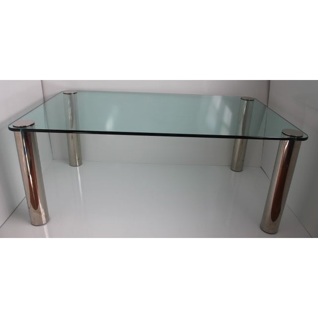 Pace Dining Table With Chrome Legs and Glass Top - Image 3 of 10