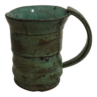 Signed Glazed Stoneware Coffee Mug