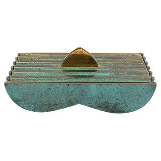 Mid Mod Pal Bell Brass Box