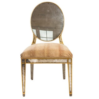 John Richard Lela Eglomise Side Chair