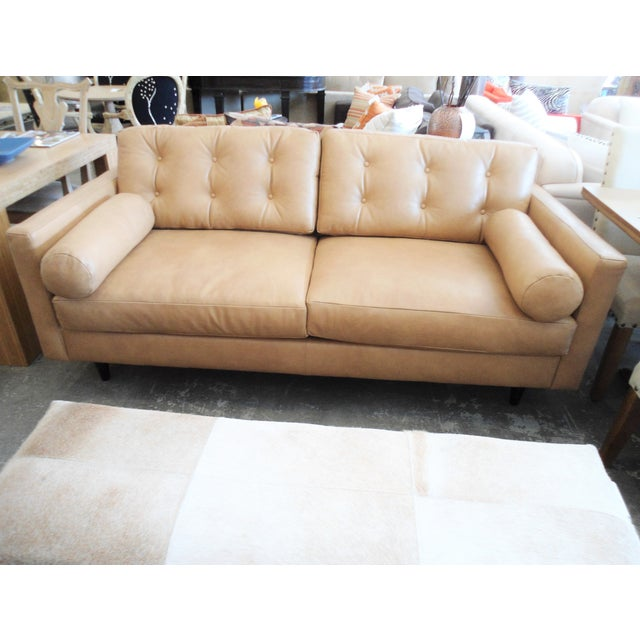 Modern Mocha Leather Sofa - Image 3 of 7