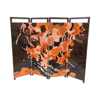 French Mid-Century Modern Folding Screen