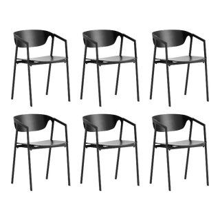 Woud Black Dining Chairs - Set of 6