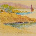 Image of Original Rainbow Harbor Painting, C. 1940