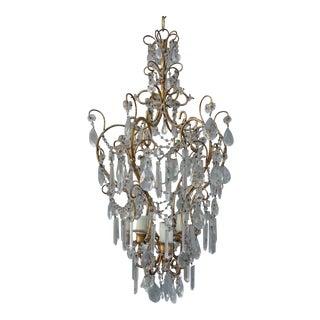 Italian Crystal 4 Light Chandelier