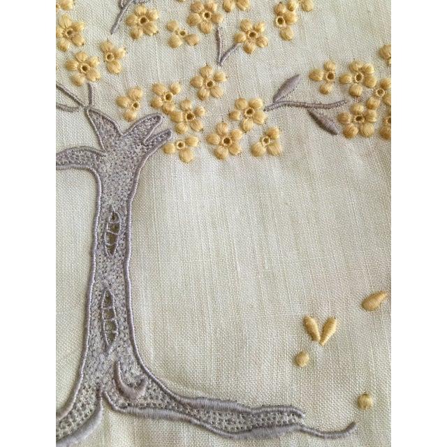 Vintage Embroidered Tree Tea Towel - Image 3 of 10