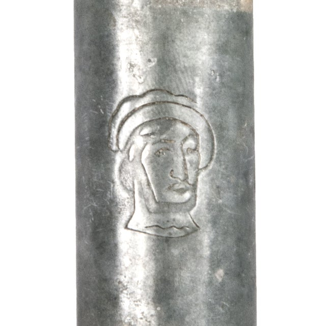 Image of Vintage French Metal Wine Bottle Carrier