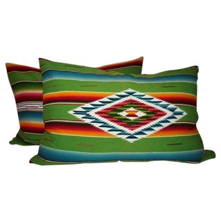 Pair of Monumental Serape Bolster Pillows
