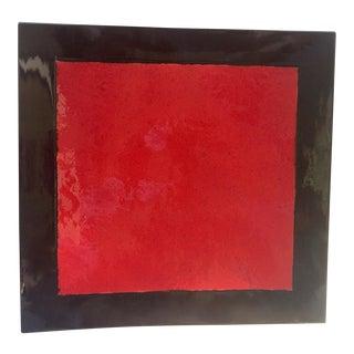 Black & Red Ceramic Wall Hanging