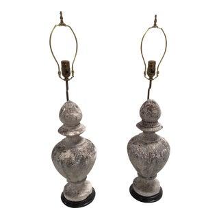 Stone Garden Ornament Lamps - A Pair