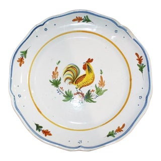 French Faience Ironstone Plate