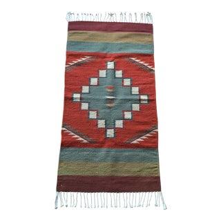 """Vintage Southwestern Wool Rug - 2'5"""" x 5'"""