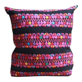 Wool Embroidered Chamula Pillows - A Pair
