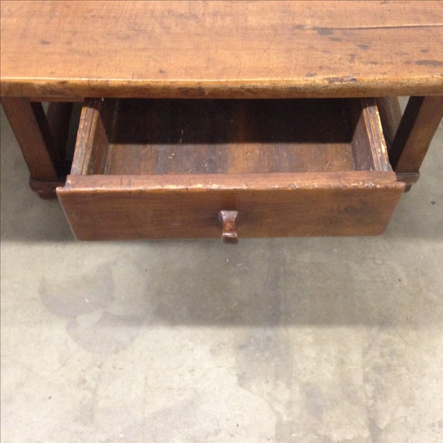 Antique Coffee Tables With Drawers: Antique Austrian Coffee Table With Drawer