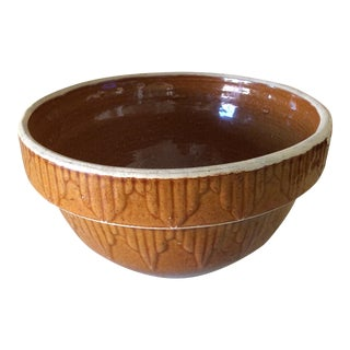 Rustic Brown Glazed Antique Mixing Bowl