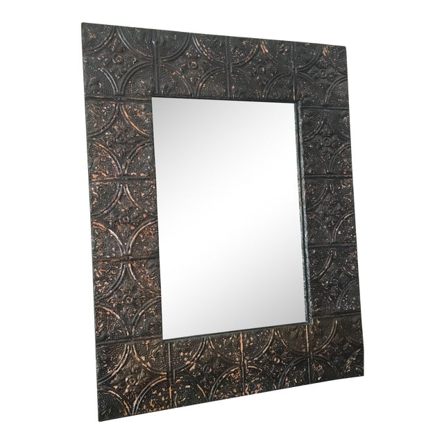 Large Metal Framed Mirror - Image 1 of 4