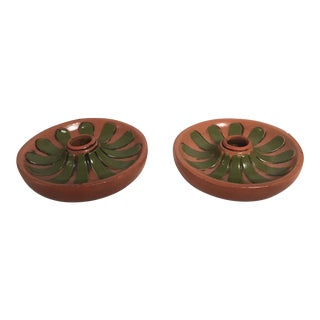Vintage Fitz & Floyd Flower Shaped Candle Holders - a Pair