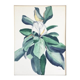 Vintage Magnolia Blossom Watercolor