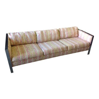 Mid-Century Chrome Frame Sofa