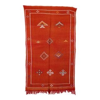 """Vintage Moroccan Cactus Silk Rug - 2'11"""" x 4'11"""""""