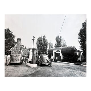 Vintage Gas Station Photograph