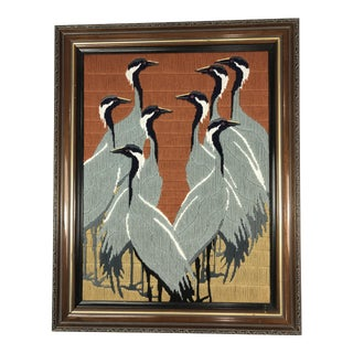 Vintage Heron Long Stitch Needlepoint