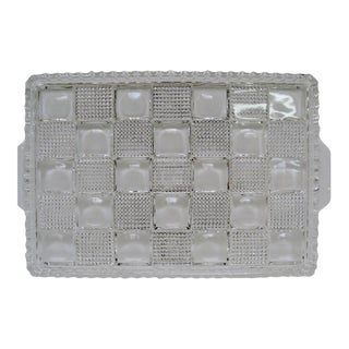 Glass Checkerboard Tray