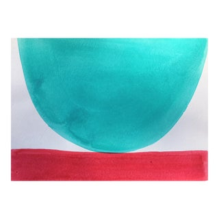 """""""Tiffany Blue and Watermelon Concentrate"""" - MIX and Match Bowls by Jenny Andrews Anderson"""
