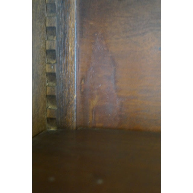 English Tudor Oak Large Open Bookcase - Image 10 of 10
