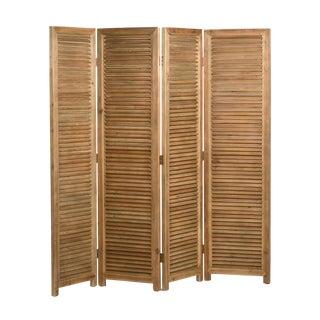 Natural Wood Room Divider