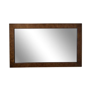 Mid-Century Burl Wood Mirror by John Stuart