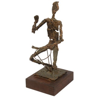Molten Metal Drummer Sculpture