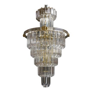 Hollywood Regency Lucite Chandelier