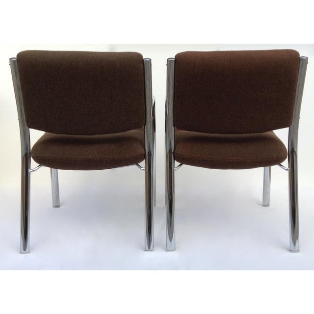Vintage Chrome Arm Chairs w/Knoll Textile - A Pair - Image 10 of 11
