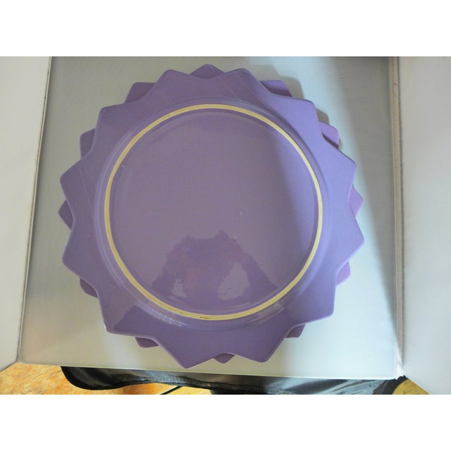 Purple Ceramic Serving Platters - A Pair - Image 5 of 6