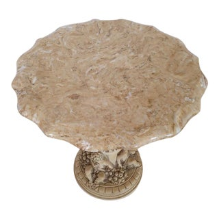 Italian Carved Marble Top Table