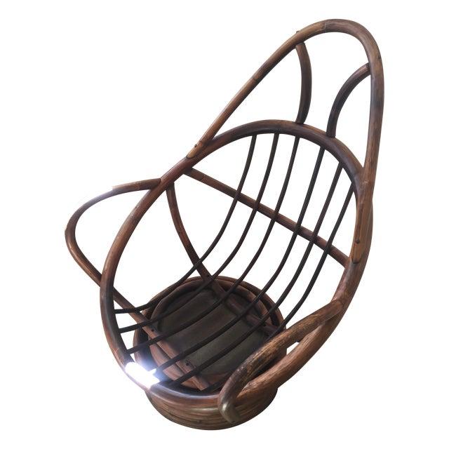 Vintage Rattan Swivel Egg Chair Chairish