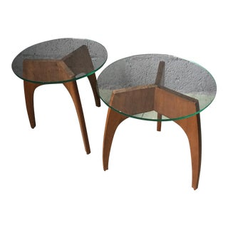 Mid-Century Side Tables in Style of Adrian Pearsall - A Pair